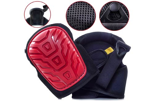 Professional Knee Pads - EASY TO WEAR Heavy Duty Memory Foam Padding
