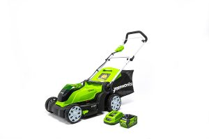 GreenWorks-MO40B411-Brushed-Lawn Mower Battery-Charger