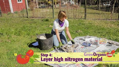 lasagna gardening nitrogen green