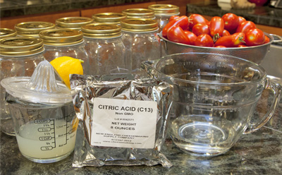 Choice of acids to add to your tomatoes